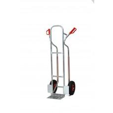 Aluminium krattensteekwagen 150kg luchtband wielen